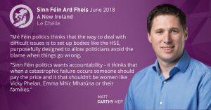 Matt Carthy MEP Cervical Screening Scandal