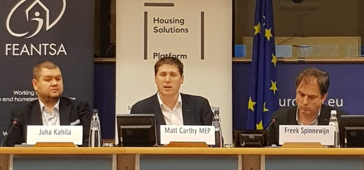 """Homelessness is as a result of political choices"" – Carthy addresses EU Housing conference"